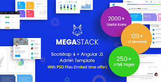 megastack bootstrap 4 u0026 angular js admin dashboard template and