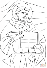 saint thomas aquinas coloring page free printable coloring pages