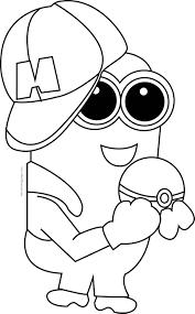 minion pikachu pokemon coloring page wecoloringpage