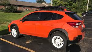 subaru crosstrek custom 2018 crosstrek aftermarket wheel and tire fitment youtube