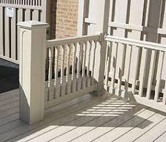 vinyl porch railings stair rail u0026 deck railing by elyria fence