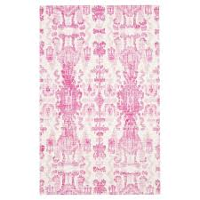 Pink And White Rug Macaroon Pink Parallels Wool Rug