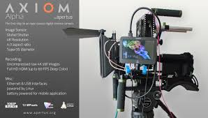 moving images from axiom alpha prototype apertus open source