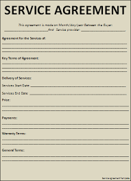 28 service agreements templates service agreement template