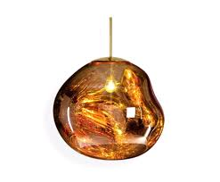 tom dixon pendant light with lights and 9 mes01g peum melt gold