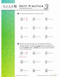 skill practice 3 simplifying fractions worksheet education com