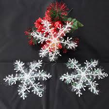 30 60pcs christmas tree white snowflake decoration mayitr xmas