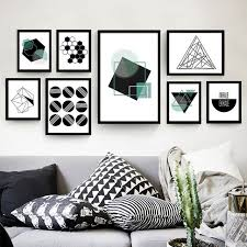 geometric mural drawing canvas simple decorative posters no frame