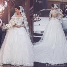 wedding dress brand discount sleeve arabic wedding dresses 2017 scoop neck