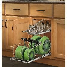kitchen cabinet storage solutions lowes rev a shelf 11 75 in w x 18 13 in 2 tier metal cabinet organizer