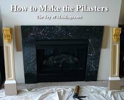 How To Build Fireplace Mantel Shelf - build fireplace mantel shelf surround over brick how to a concrete