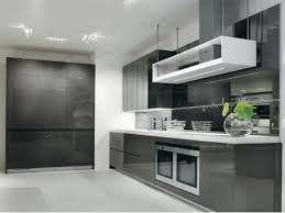 modern black and white kitchens modern cabinets design with black and white combined color 5487