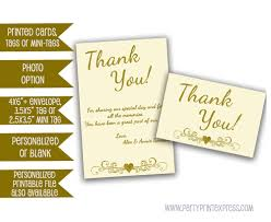 Golden Wedding Invitation Cards Ivory Wedding Anniversary Thank You Cards Gold 50th