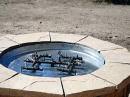 Outdoor Firepit Gas How To Build A Gas Pit Stylish Make Medium Image For