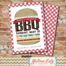 backyard bbq invitation family reunion neighborhood bbq