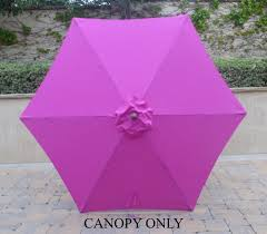 Sun Garden Easy Sun Parasol Replacement Canopy by Amazon Com 9ft Umbrella Replacement Canopy 6 Ribs In Fuchsia