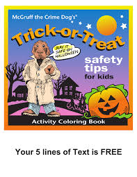 mcgruff the crime dog trick or treat coloring book mcgruff stuff