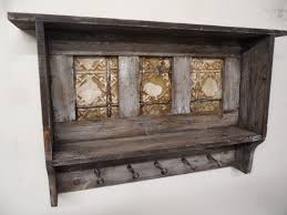 furniture rustic wood wall coat hanger with shelf as well as wall