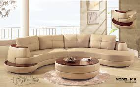 Modern Leather Couch Set Furniture Alluring Unique Curved Couches With Classic Design Home