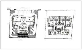 admin building floor plan administration building plan detail view dwg file