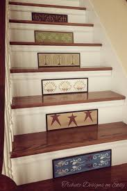 primitive decor rustic decor stair riser staircase stair
