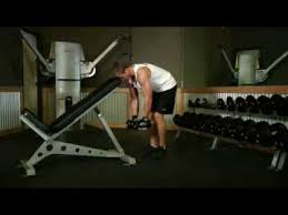 Dumbbell Exercises On Bench Shoulders Workout Bent Over Dumbbell Rear Delt Raise With Head On