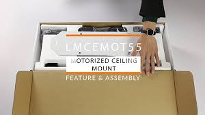 Drop Down Tv From Ceiling by Motorized Drop Down Tv Mount Assembly Displays2go
