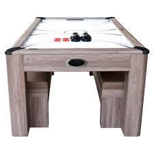 air hockey combo table driftwood 7 air hockey table tennis dining combo set