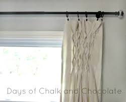 smocked drop cloth curtains days of chalk and chocolate