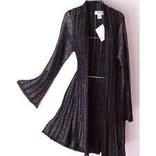 silver cardigan sweater black silver metallic sweater coat cardigan duster