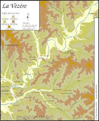 Map Of The Up The Vezere Valley Clickable Map