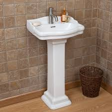Bathroom Pedestal Sink Ideas 268 Stanford Mini Pedestal Sink With Single Faucet Hole Overall