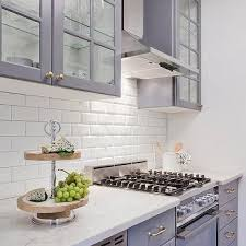 Gray Ikea Kitchen Cabinets With White Beveled Subway Tile - White beveled subway tile backsplash