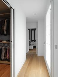 apartments small corridor white wall wooden floor