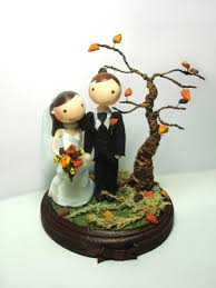 fall wedding cake toppers adorable fall wedding cake toppers 19 sheriffjimonline