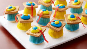 mini cupcake mortarboards recipe bettycrocker