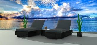 Modern Wicker Furniture by Oahu 7pc Ultra Modern Wicker Patio Set Www Urbanfurnishing Net