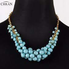 blue bead necklace images Chran ladies gifts brand handmade jewelry accessories lovely beads jpg