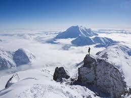 climbing on mount denali