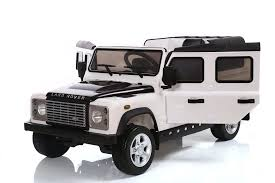 electric jeep for kids land rover defender 12v licensed electric ride on car white