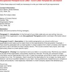 Sample Occupational Therapy Resume by Pediatric Occupational Therapy Resume Cover Letter Inside
