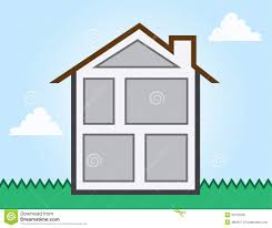 house outline rooms royalty free stock photos image 29733248