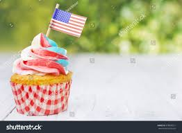 Why Is The American Flag Red White And Blue Redwhiteandblue Cupcakes American Flags On Outdoor Stock Photo