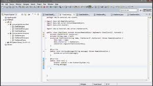 java rmi 02 chat application tutorial youtube