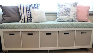 Cushion Top Storage Bench by Storage Bench Cushion Seat Tetbury White With And Baskets Large