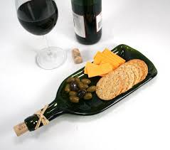 wine bottle serving tray large molded green wine bottle serving tray spoon rest