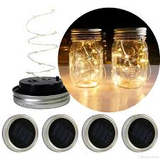 mason jar outdoor lights solar powered led mason jars light up lid 10 led string fairy star