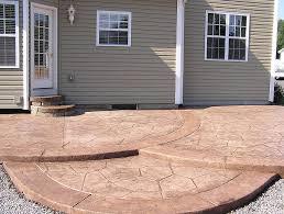 backyard concrete patio diy home design ideas