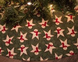 primitive christmas tree primitive tree skirt etsy