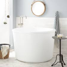 47 caruso acrylic japanese soaking tub bathroom